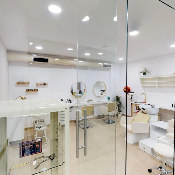 The interior of the beauty salon at the Adams Hotel & Suites Beauty Salon in Parga.
